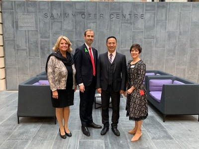 Kmind's chairman and co-founder Xie Weishan visiting London Business School with the Dean François Ortalo-Magné. He is pictured with LBS's dean and senior members of the School's management team.