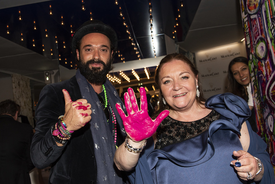 Sacha Jafri & Madame Camille Sereys de Rothschild. (PRNewsfoto/Baron Philippe de Rothschild)