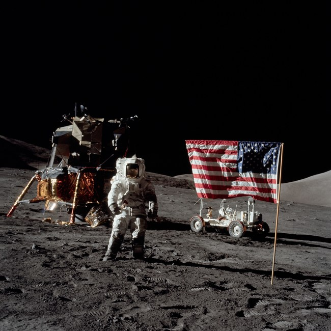 Moonwalker Harrison H. Schmitt will be in attendance to discuss his role in Apollo 17 and as one of the last remaining humans to have set on the moon. Photo credits to NASA.