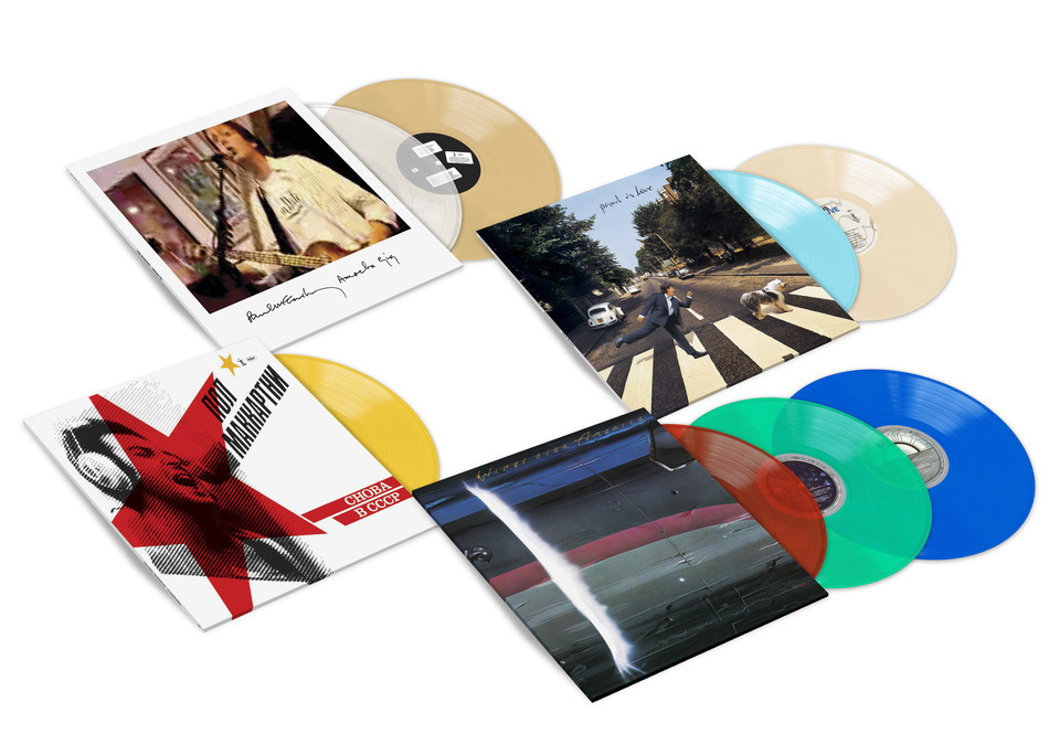 """PAUL McCARTNEY DECADES-SPANNING """"LIVE"""" ALBUM MILESTONE REISSUES - Paul has confirmed updated releases of four albums capturing performances spanning from his 1975-1976 return to U.S. arenas with Wings to his intimate 2007 set at Amoeba records in Los Angeles. The albums — Amoeba Gig, Paul Is Live, Choba B CCCP, Wings Over America — will be released July 12, 2019 via MPL/Capitol/UMe digitally, on CD and on both black and limited-edition color vinyl."""