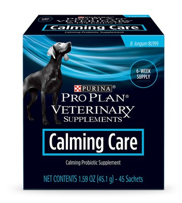 Purina Pro Plan Veterinary Supplements has introduced Calming Care, a new management option for owners whose dogs experience anxious behaviors. Calming Care is a probiotic supplement that contains a strain of beneficial bacteria shown to help dogs maintain calm behavior. For more information on Purina Pro Plan Veterinary Supplements Calming Care, visit Purina.com or speak to your veterinarian.