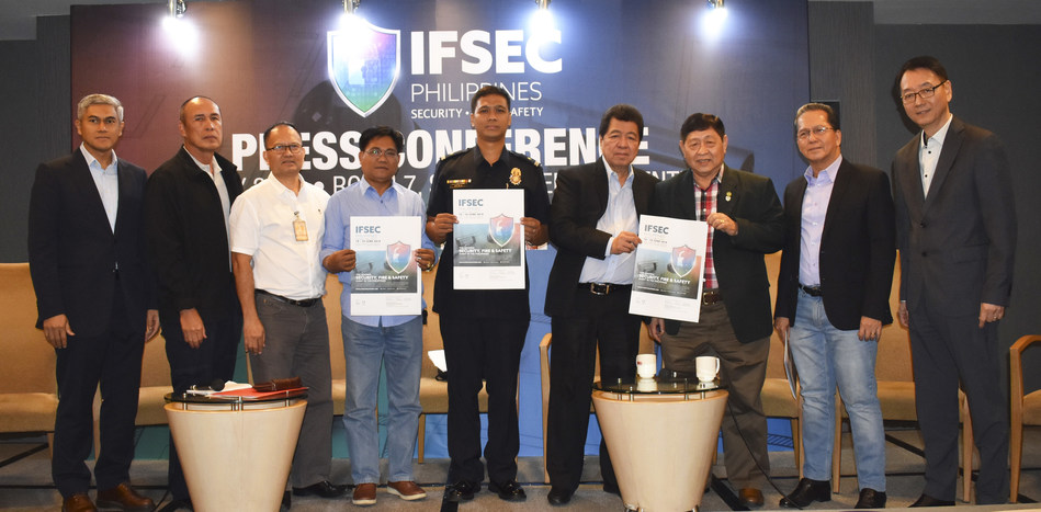IFSEC Press Conference 2019 was a success with the presence of (L-R) Mr. Nadzeem Adbul Rahman (Project Director, IFSEC Philippines), Mr. Aldo R. Mayor (Special Operations Officer V, Public Safety Division, MMDA), Engr. Francisco R. Pesino, Jr.(Chief, Traffic Signal Operation & Maintenance Division, MMDA), Mr. Jofrey Agulan (Traffic Operations Officer at the Office of the Technical Committee on Complaints, MMDA), Insp. Simon Duka, Jr. (Public Information Officer (PIO) - Bureau of Fire Protection