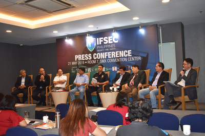 The invited speakers from Metropolitan Manila Development Authority (MMDA), Bureau of Fire Protection (BFP) - Pasay City, Philippine Society for Industrial Security Inc. (PSIS), Safety Organization of the Philippines Inc. (SOPI), and Hitec International Corp. were being asked about their contributions to empower more the national security during the IFSEC Press Conference.