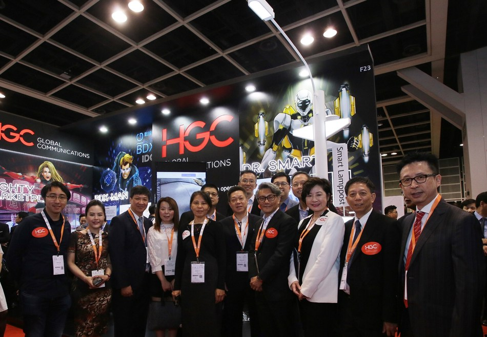 A large number of guests were drawn to the HGC booth at Cloud Expo Asia to obtain the latest information on Smart Solutions. (PRNewsfoto/HGC Global Communications Limit)
