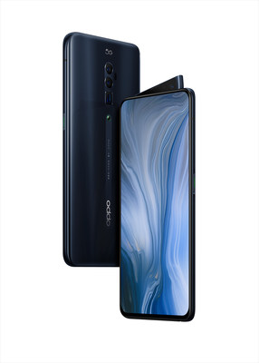 OPPO Reno device in black