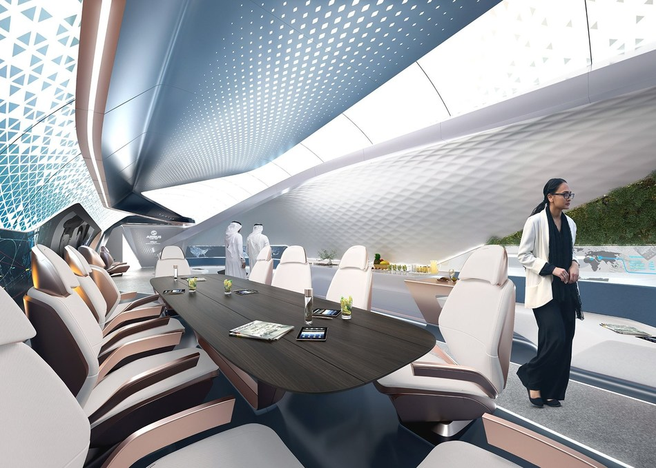 The aircraft cabin of the future according to Pininfarina