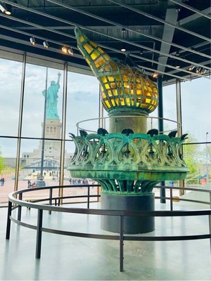Phelps Construction Group of Boonton, NJ completes 26,000 square foot Statue of Liberty Museum on Liberty Island. The firm moved the original torch from the statue's pedestal in November 2018 to its new home in the museum for all to enjoy.