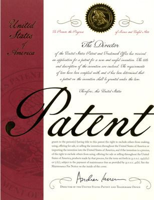 Patent certificate (PRNewsfoto/Regen Lab SA)