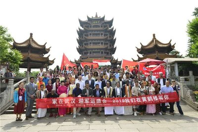 91 foreign volunteers from 38 countries compete to be urban narrators at Yellow Crane Tower on May 18