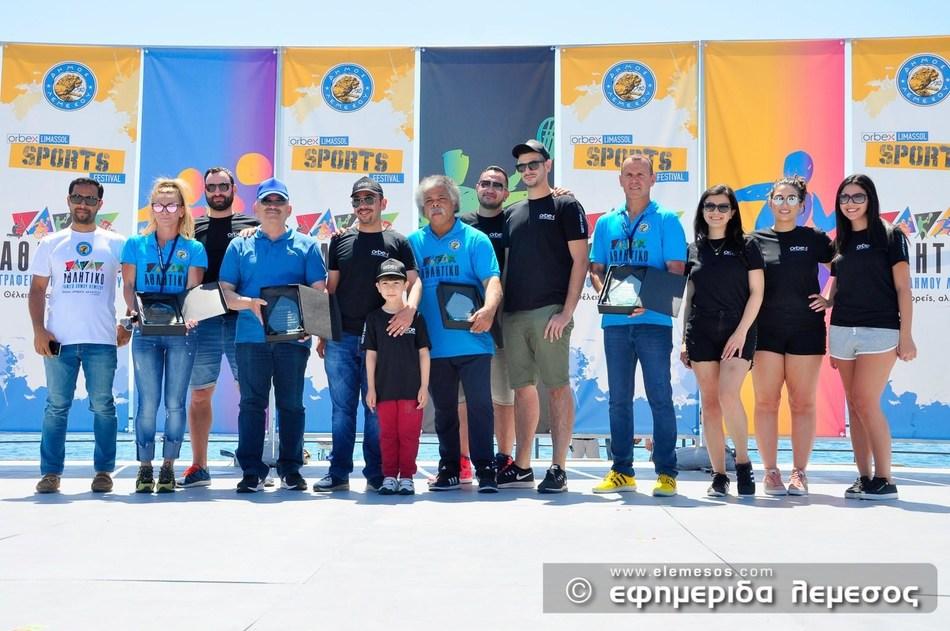 The Orbex team presenting commemorative awards to the Limassol Municipality organizers (PRNewsfoto/Orbex)