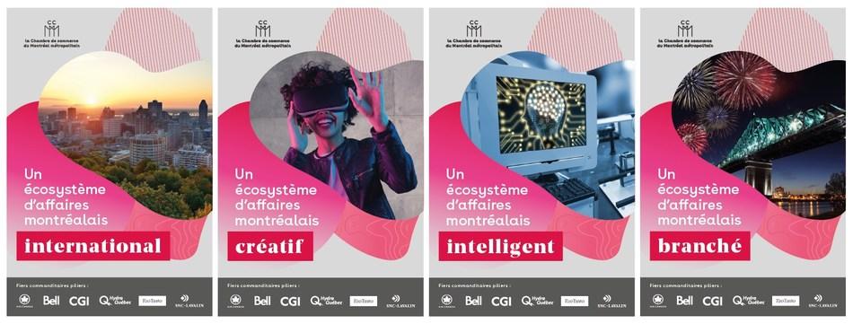 La Chambre de commerce du Montréal métropolitain lance sa campagne annuelle célébrant les piliers de l'économie montréalaise (Groupe CNW/Chambre de commerce du Montréal métropolitain)