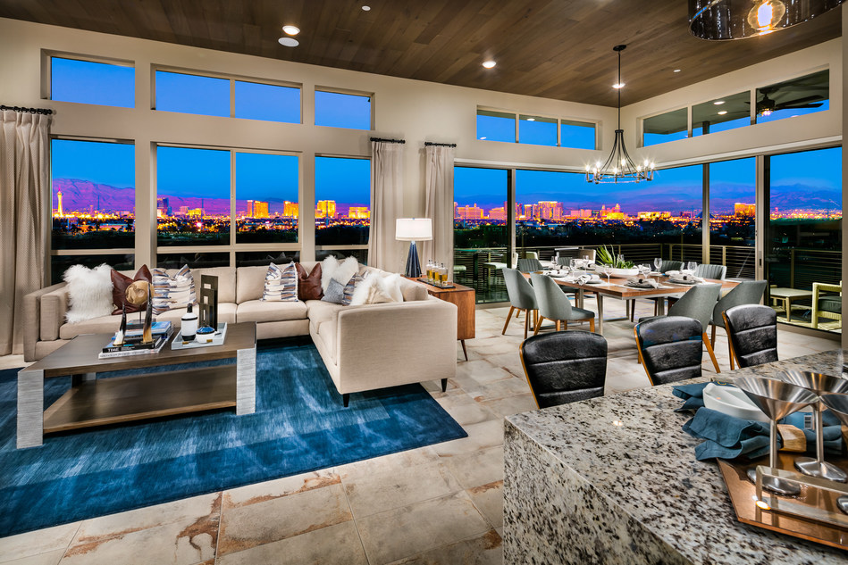 The Apex at Trilogy in Summerlin showcases a space for entertaining and relaxing.