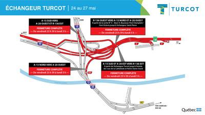 Entraves ? Échangeur Turcot (Groupe CNW/Ministère des Transports)