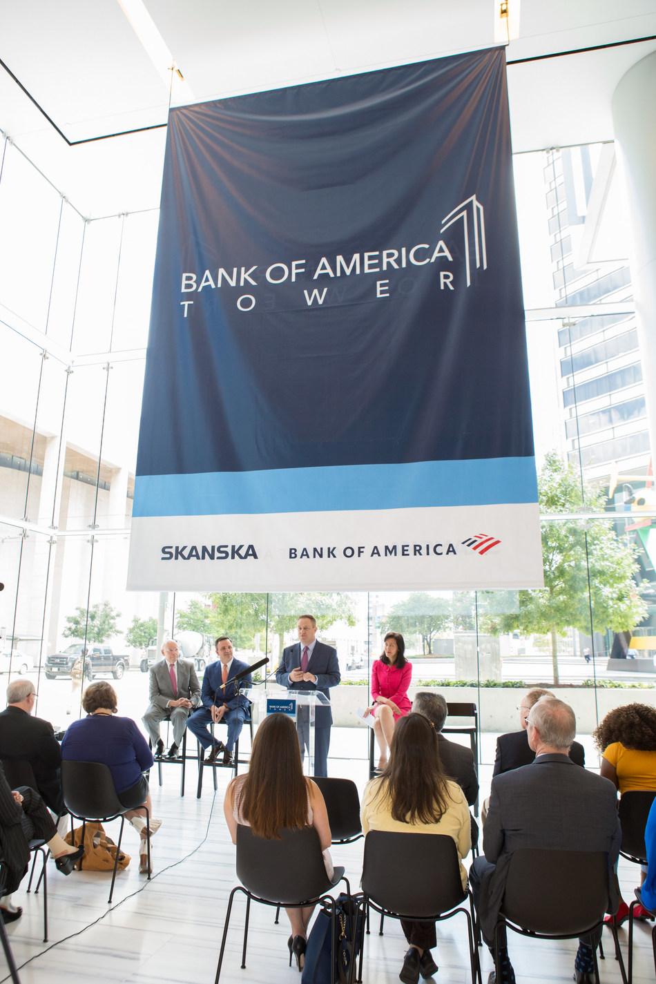 Skanska renames office development in downtown Houston Bank of America Tower.