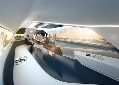 Pininfarina y AMAC Aerospace presentan un innovador concepto de cabina para el Airbus A350-900