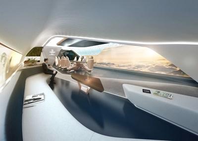 The aircraft cabin of the future according to Pininfarina (PRNewsfoto/Pininfarina)