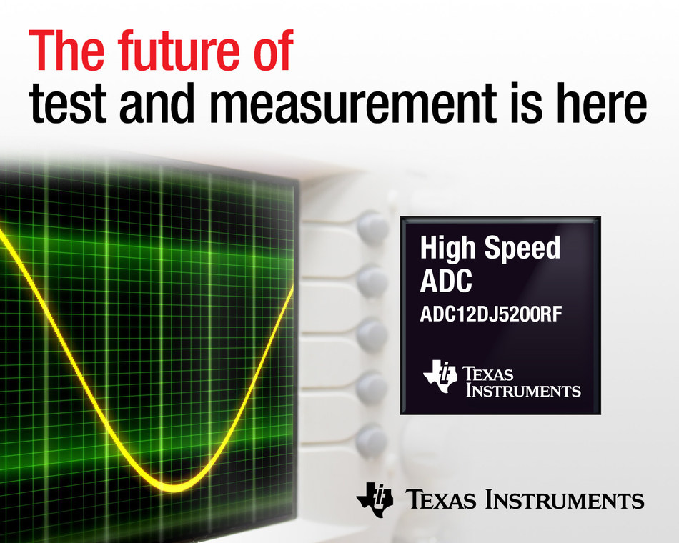 TI's new ADC with 8-GHz bandwidth and a 10.4-GSPS sampling rate covers the widest frequency spectrum for 5G testing, oscilloscopes and radar applications.