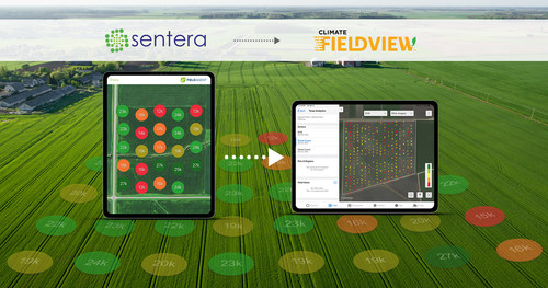Sentera's expanded platform partnership with Climate FieldView will provide advanced plant population and weed pressure analytics through the digital agriculture platform.