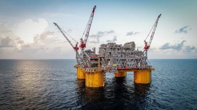La plate-forme Appomattox de Shell dans le golfe du Mexique