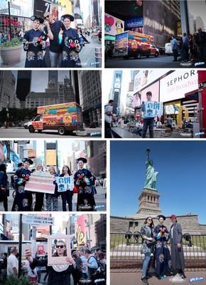 pop-up show held in New York