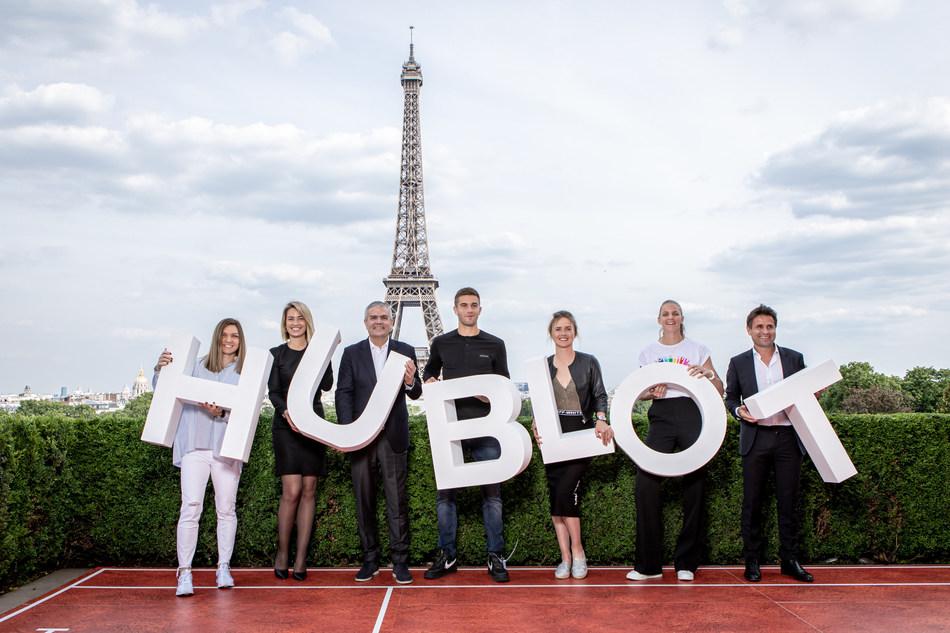 HUBLOT'S FAMILY OF TENNIS CHAMPIONS IN PARIS - Simona Halep - Anne Laure Bonnet - Ricardo Guadalupe - Borna Coric - Elina Svitolina - Karolina Pliskova - Fabrice Santoro