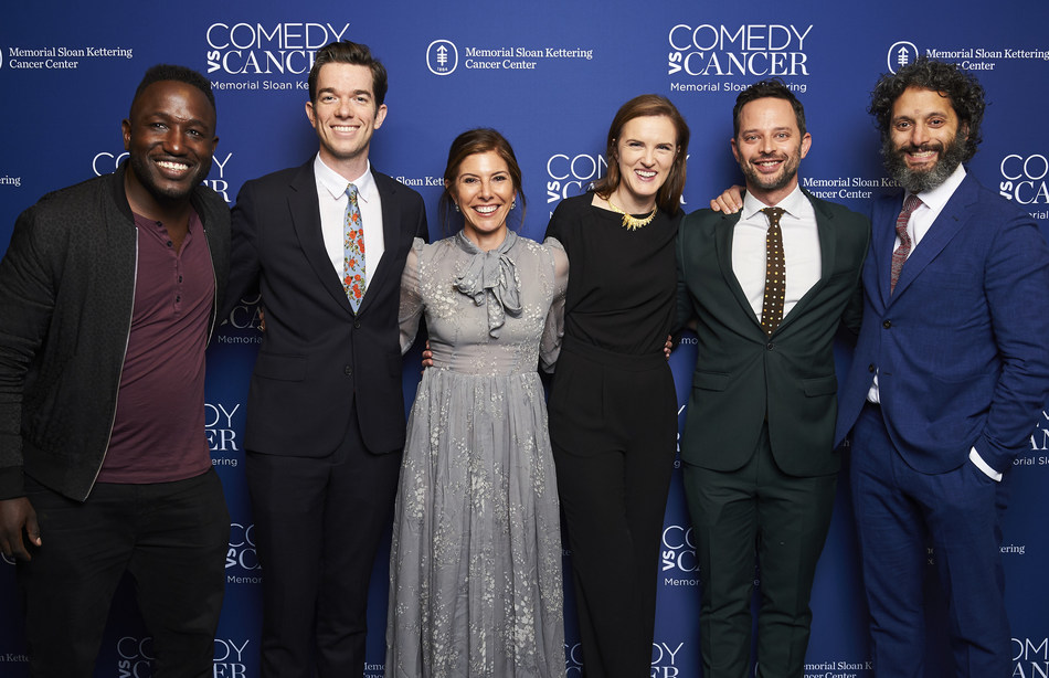 Hannibal Buress, John Mulaney, Niccole Kroll, Jennifer Rogers, Nick Kroll and Jason Mantzoukas at Memorial Sloan Kettering's Comedy vs Cancer, which raised more than $1 million for blood cancer research, on Tuesday, May 14, 2019.