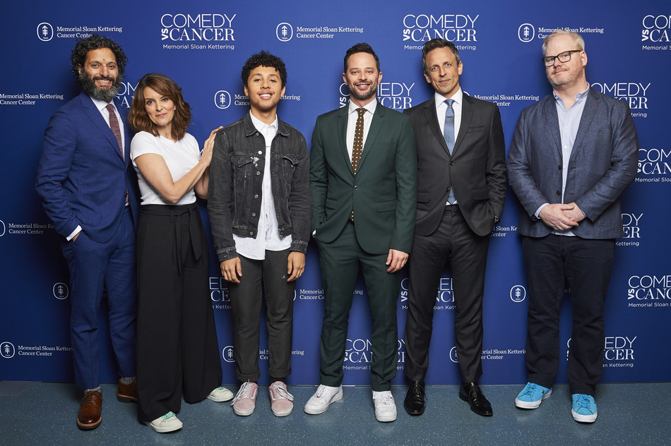 Jason Mantzoukas, Tina Fey, Jaboukie Young-White, Nick Kroll, Seth Meyers and Jim Gaffigan performed at Memorial Sloan Kettering's Comedy vs Cancer, a night of humor and hope to outwit cancer, on Tuesday, May 14, 2019 in New York City.