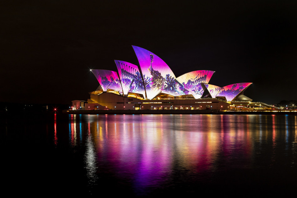 Sydney Opera House - 30+ Sydney Opera House Vivid Images  Pictures