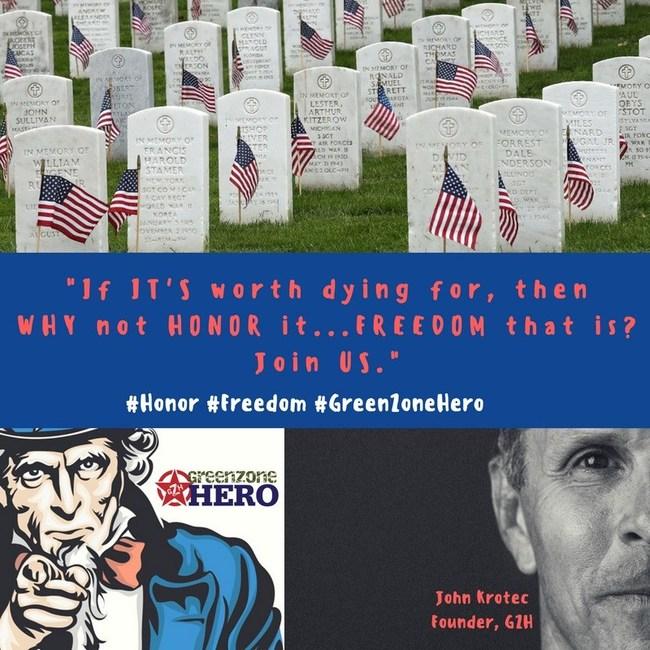 GreenZone Hero, Honor Freedom www.GreenZoneHero.com