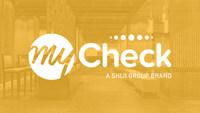 New Mycheck logo as a Shiji Group Brand