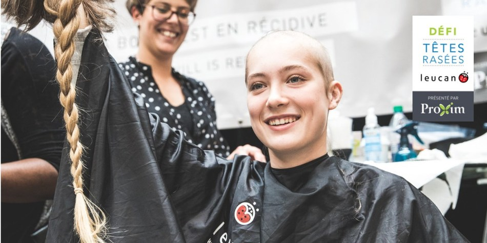More than 500 people are taking on the Leucan Shaved Head Challenge today (CNW Group/Leucan)