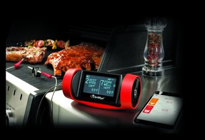 Become a BBQ Master with GrillEye®, the best BBQ thermometer in the world. (PRNewsfoto/GrillEye®)