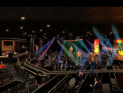 A rendering of 'Thunderland' — the new, fully immersive venue with the Excalibur Hotel & Casino. Photo Credit: Dezmotif Studios