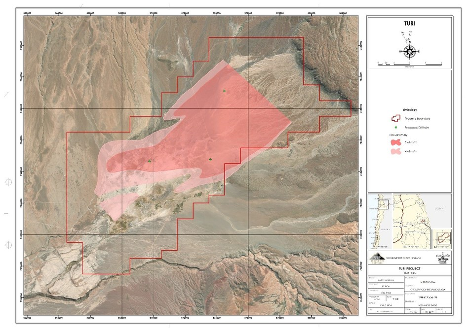 Turi Project - 3 Drill Locations (CNW Group/Lithium Chile Inc.)