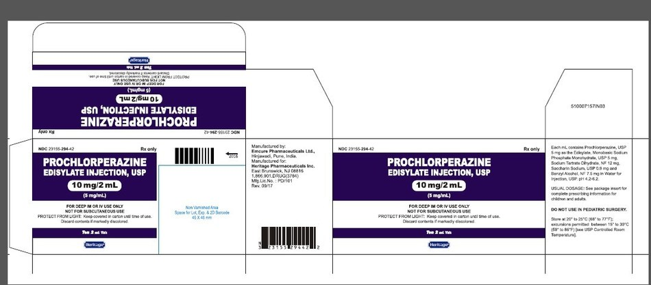 Prochlorperazine Edisylate Injection USP 10 mg/ 2mL Carton
