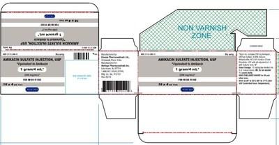 Amikacin Sulfate Injection USP 1 g/ 4 mL (250 mg/ml) Carton