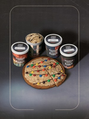 The Byers' House Lights Polar Pizza® Ice Cream Treat, an ode to Strange Things season one, and fresh-packed ice cream in four limited edition containers, are just some of the Stranger Things guests can take home this summer. For more information, visit www.BaskinRobbins.com.