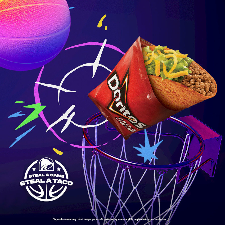 Taco Bell's 'Steal a Game, Steal a Taco' storms into Canada (CNW Group/Taco Bell Canada)
