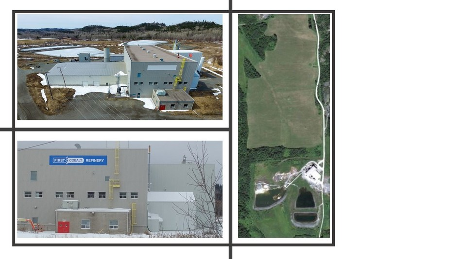 Figure 2 - Exterior and property footprint of the First Cobalt Refinery (CNW Group/First Cobalt Corp.)