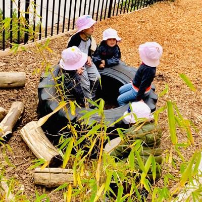Early Childhood students at the Maple Village Waldorf School, Laguna, California enjoy outdoor play