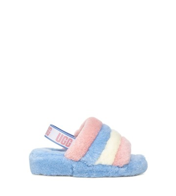 UGG Pride Collection - Fluff Yeah Slide in Pride Stripes