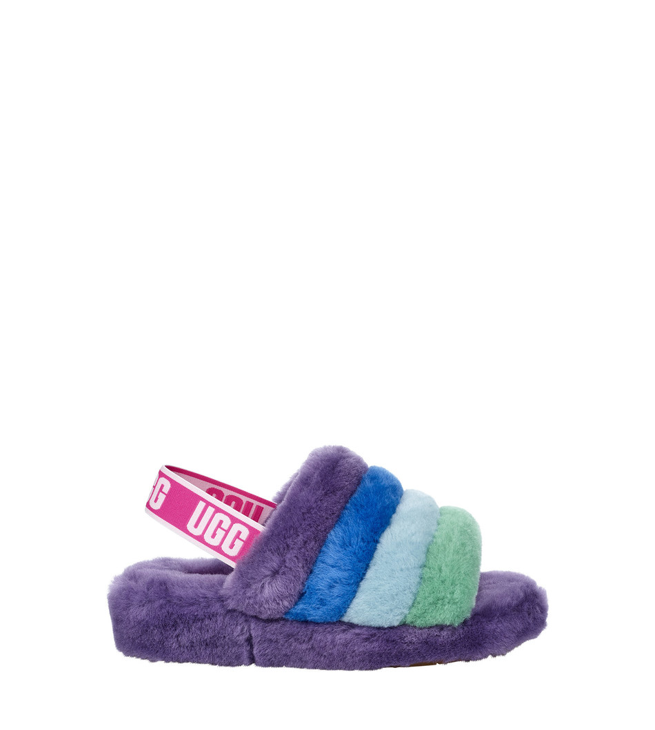 UGG Pride Collection - Fluff Yeah Slide in Pride Rainbow Purple