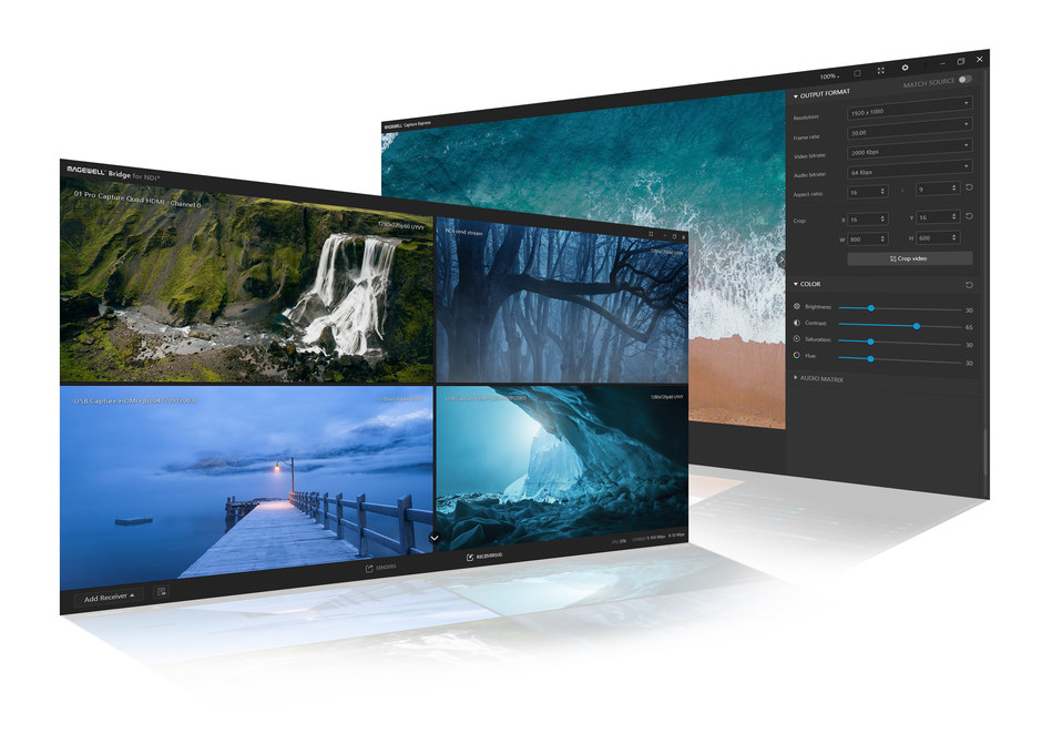 The new Magewell Bridge and Capture Express 3.0 software provide streamlined video-over-IP conversion and video recording when used with Magewell's popular capture devices.