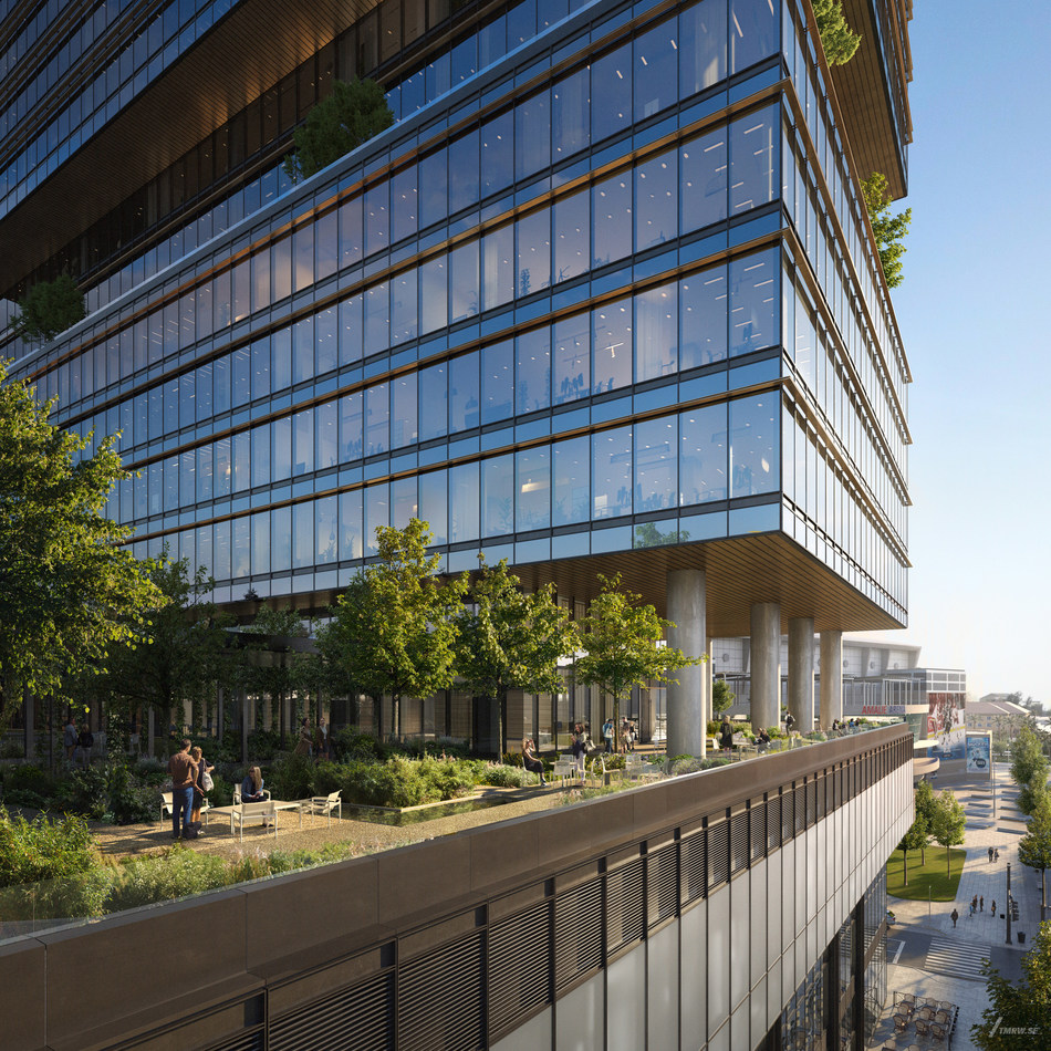 Designed by Gensler, 400 Channelside Drive features a 30,000-square-foot landscaped sky garden providing space for a daily connection with nature.