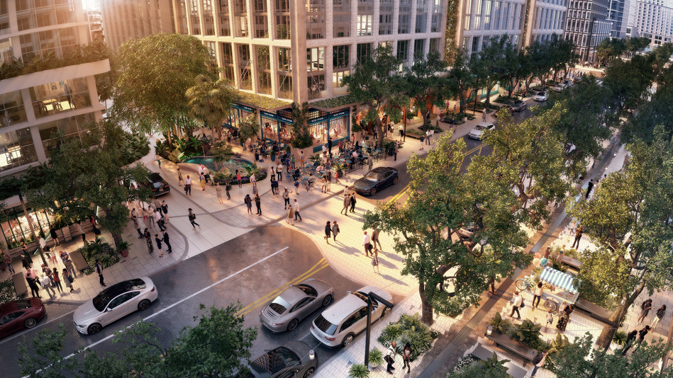 The heart and spine of the neighborhood, Water Street has been transformed into a vibrant, pedestrian-friendly center of activity.