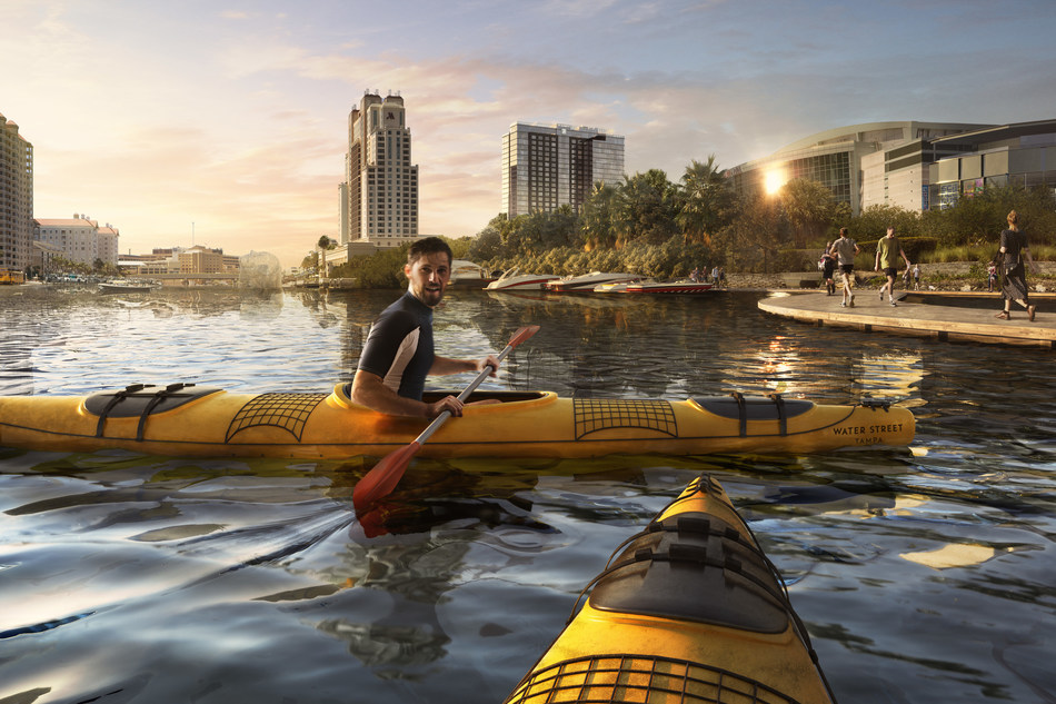 Water Street Tampa seamlessly connects residents and visitors to Tampa's waterfront, a neighborhood that provides access to enjoy the outdoors and opportunities for fitness.