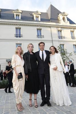 Kate Moss, Uma Thurman, Roger Federer y Natalie Portman en Château de Saran