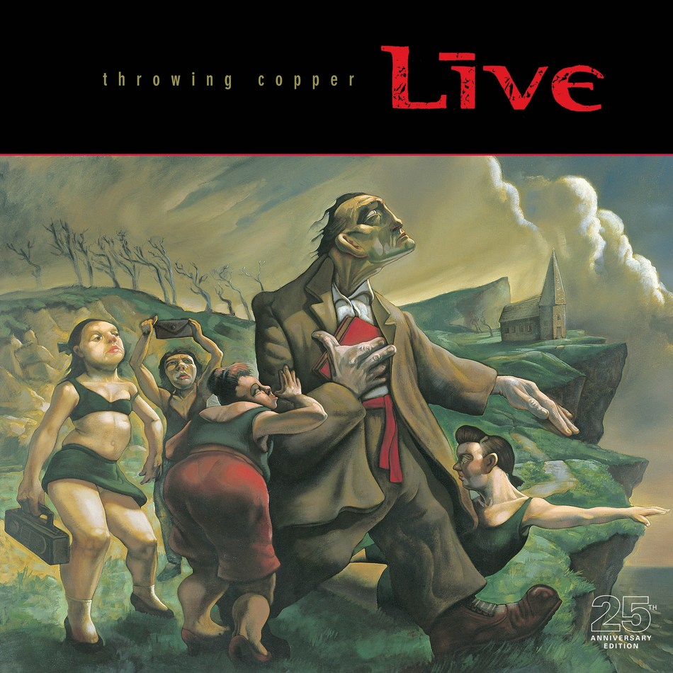 On July 19, Radioactive/MCA/UMe will mark the 25th anniversary of LIVE's seminal sophomore album Throwing Copper with a deluxe multi-format reissue. The Super Deluxe 25th Anniversary box set edition not only features the album with bonus tracks on 2LP black vinyl, and a 12-page booklet with an in-depth interview with the band chronicling the era of the album, but it also contains 2CDs with a 26-track lineup that includes LIVE's previously unreleased, eight-song performance at Woodstock '94.