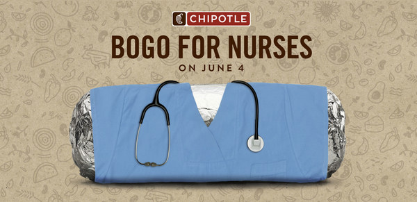 cabdf9f04 Free Burritos: Chipotle Honors Nurses with One-Day BOGO On June 4 ...