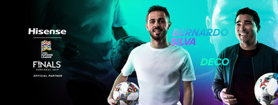 "Portuguese professional football star Bernardo Silva and footballing legend Deco will be invited to join Hisense ""Skills Brought to Life"" campaign. (PRNewsFoto/Hisense)"